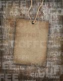 Arpillera de la vendimia de la textura del café del fondo Imagenes de archivo