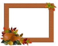 Arpillera del marco del otoño de la caída de la acción de gracias Fotografía de archivo libre de regalías