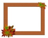 Arpillera del marco del otoño de la caída de la acción de gracias Fotografía de archivo