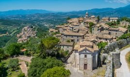 Arpino, ancient town in the province of Frosinone, Lazio, central Italy. Arpino is a comune municipality in the province of Frosinone, in the Latin Valley royalty free stock photography