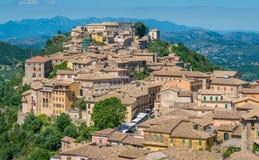 Arpino, città antica nella provincia di Frosinone, Lazio, Italia centrale fotografie stock