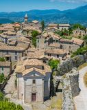 Arpino, oude stad in de provincie van Frosinone, Lazio, centraal Italië stock foto's