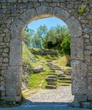 Arpino, oude stad in de provincie van Frosinone, Lazio, centraal Italië royalty-vrije stock foto