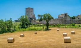 Arpino, oude stad in de provincie van Frosinone, Lazio, centraal Italië stock fotografie
