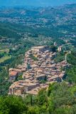 Arpino, oude stad in de provincie van Frosinone, Lazio, centraal Italië royalty-vrije stock foto's