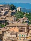 Arpino, oude stad in de provincie van Frosinone, Lazio, centraal Italië stock foto