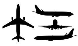Arplanes silhouettes Stock Image