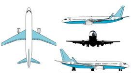 Arplanes silhouettes Stock Photos