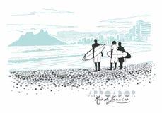 Arpoador, Рио-де-Жанейро Стоковое Изображение
