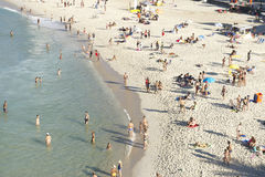 Arpoador Ipanema Beach Rio de Janeiro Brazil from Above Royalty Free Stock Photo