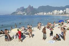Arpoador Ipanema Beach Rio de Janeiro Brazil Skyline Stock Images