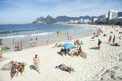 Arpoador Ipanema Beach Rio de Janeiro Brazil Skyline royalty free stock photo