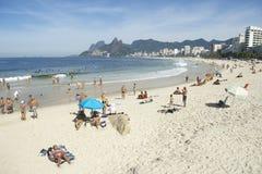 Arpoador Ipanema Beach Rio de Janeiro Brazil Skyline Stock Photography