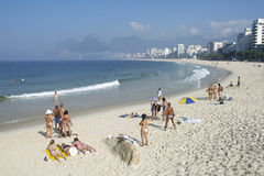 Arpoador Ipanema Beach Rio de Janeiro Brazil Skyline Royalty Free Stock Images