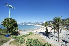 Arpoador Ipanema Beach Rio de Janeiro Brazil Skyline royalty free stock photos