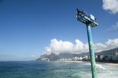 Arpoador Ipanema Beach Rio de Janeiro Brazil Skyline stock image