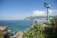 Arpoador Ipanema Beach Rio de Janeiro Brazil Skyline Royalty Free Stock Photography