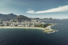Arpoador peninsula between Ipanema and Copacabana Beach Royalty Free Stock Image
