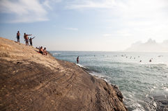 Arpoador Rock in Ipanema Royalty Free Stock Photos
