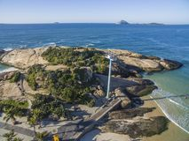 Arpoador-Strand in Ipanema-Bezirk, Rio de Janeiro, Brasilien stockbild