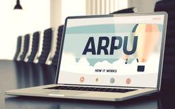 Arpu begrepp på bärbar datorskärmen 3d royaltyfria bilder