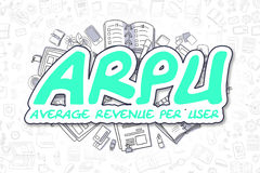 ARPU - Doodle Green Word. Business Concept. Stock Photography