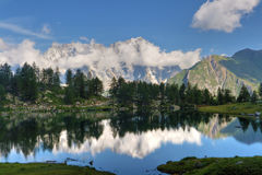 Arpy lake, Italy Stock Photos