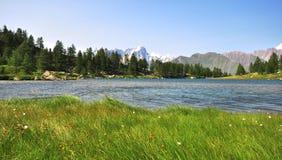 Arpy lake Royalty Free Stock Image