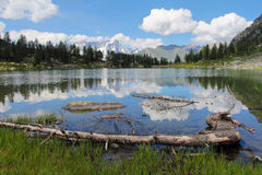 Arpy lake and mountain landscape Stock Images