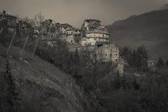 Arquata del Tronto χωριό που καταστρέφεται από το σεισμό Στοκ Φωτογραφίες