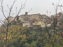 Arquata del Tronto, het gebied van Marche, Italië Royalty-vrije Stock Afbeelding