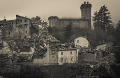 Arquata del Tronto medieval village destroyed by the earthquake Royalty Free Stock Photography