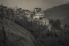 Arquata del Tronto village destroyed by earthquake stock photos