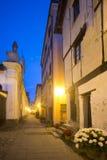 Arquata Scrivia (Ιταλία) τή νύχτα Στοκ Εικόνες