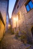 Arquata Scrivia (Ιταλία) τή νύχτα Στοκ εικόνες με δικαίωμα ελεύθερης χρήσης