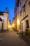Arquata Scrivia (Ιταλία) τή νύχτα Στοκ Φωτογραφία