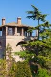 Arquato för Duca s tornläge slott Piacenza Italien arkivfoton