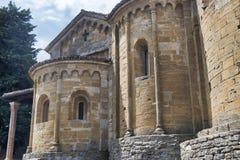 ` Arquato Piacenza, Italia, chiesa di Santa Maria, abside di Castell Immagine Stock