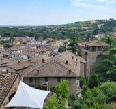` Arquato Piacenza, Italia, città storica di Castell Immagini Stock Libere da Diritti