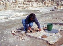 Arqueólogo, Kourion Fotografía de archivo