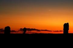 Arque des monuments au coucher du soleil Photographie stock libre de droits