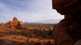 Arquea el parque nacional - el lugar más hermoso en Utah almacen de metraje de vídeo