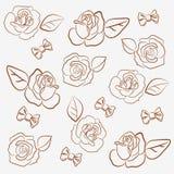 Arquea las rosas del `del `n (el contorno) Fotos de archivo libres de regalías