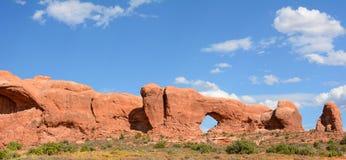 Arquea panorama del parque nacional Imagenes de archivo