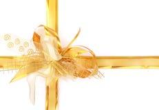 Arqueamiento amarillo del día de fiesta Imagen de archivo libre de regalías