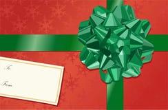 Arqueamiento de la Navidad Foto de archivo libre de regalías