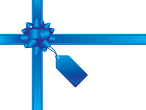 Arqueamiento de la Navidad y tarjeta del regalo Fotografía de archivo