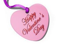 Arqueamiento de la tarjeta del corazón de la tarjeta del día de San Valentín Fotografía de archivo