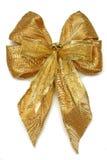 Arqueamiento de Navidad del oro Fotos de archivo libres de regalías