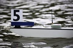 Arqueamiento del barco de Rowing Imagen de archivo libre de regalías